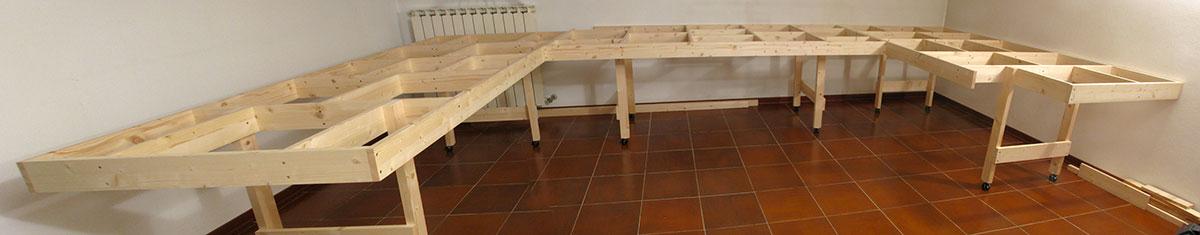 La struttura del tavolo