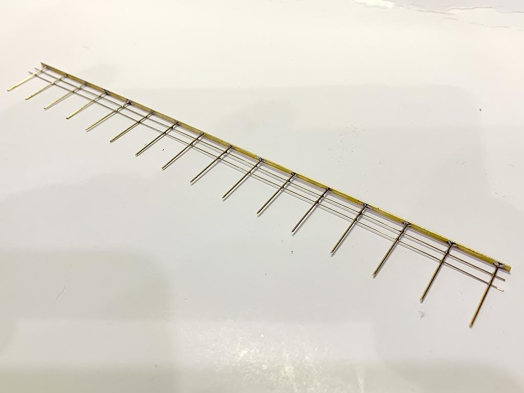 Ringhiera in metallo saldata