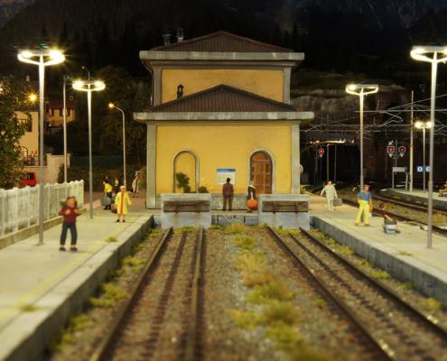 Stazione notturna binario 1 e 2