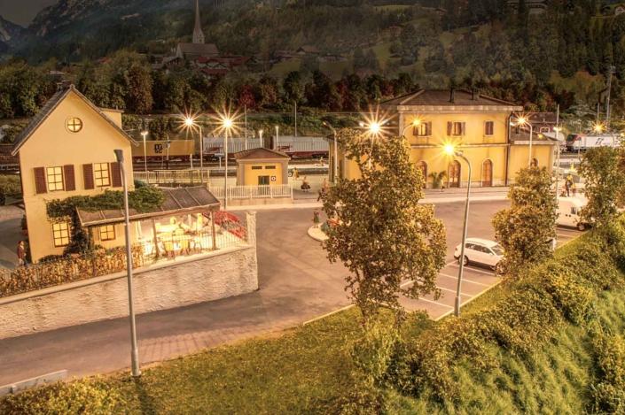 Stazione in notturna
