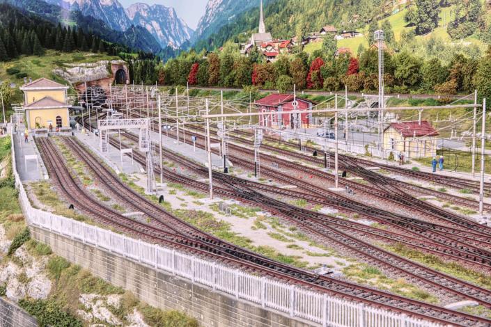 Panoramica della stazione di Buzzaceto