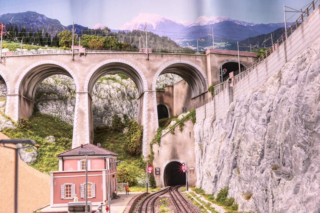 Campo railstation with Buzzaceto Bridge