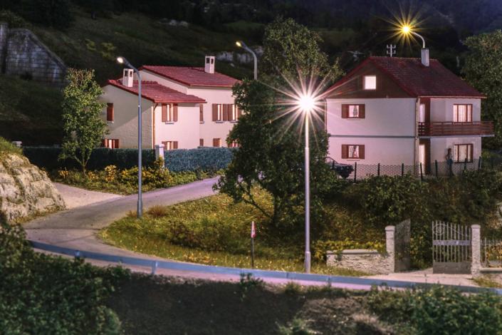 Buzzaceto village at night
