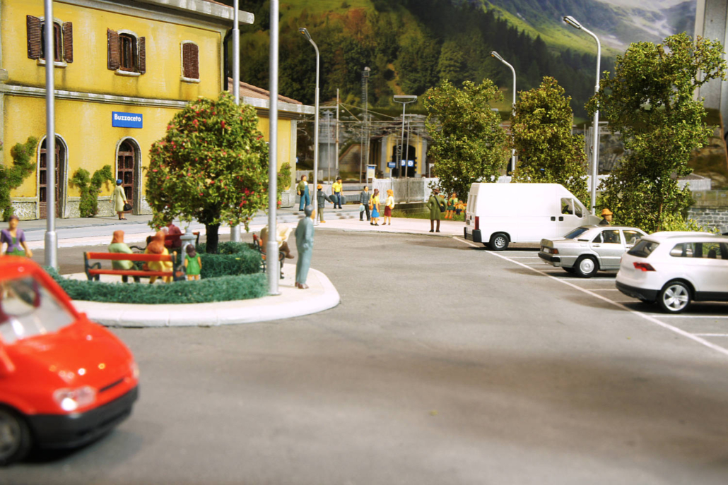 Piazzale delle stazione ferroviaria di Buzzaceto